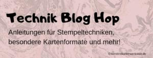 Technik Blog Hop – Schachtelkarte