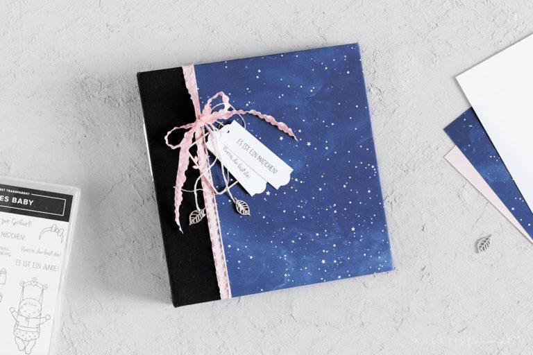 Sternenhimmel Album zur Geburt – Anleitung