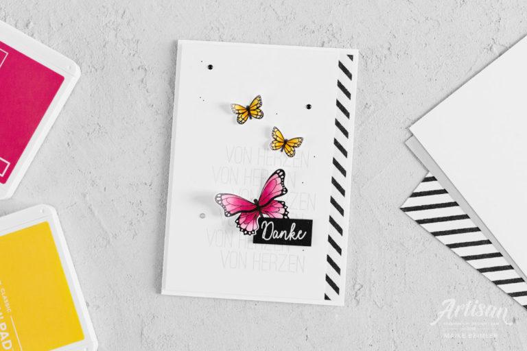 Dankeskarte Schmetterlingsglück