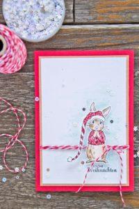 Der kleine Weihnachts-Kuschelhase