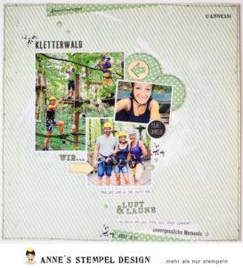 Scrapbooking Layout fürs Familienalbum – Inspiration für Monatsstempel August 2019