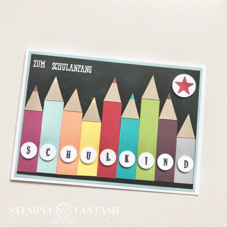Stifte-Karte zur Einschulung