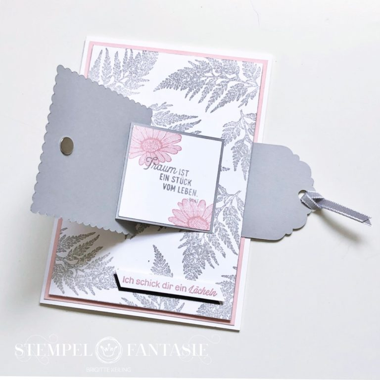 Pull Tab Flap Card mit Gänseblümchen