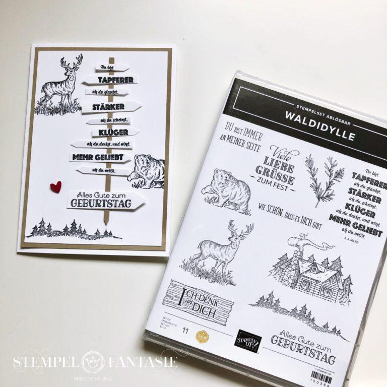 Waldidylle – eine Männer-Karte zum Geburtstag