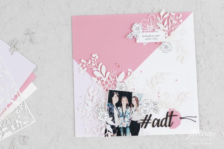 Lasergeschnittenes Papier, Rokoko-Rosa & Flieder – Layout