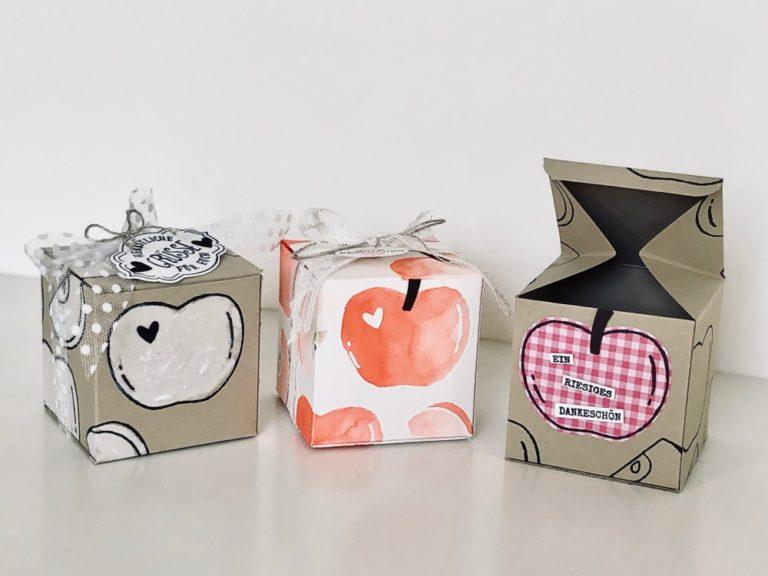 Quadratische Apfel-Box