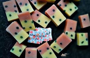 Pfirsich-Seife mit Durchblick