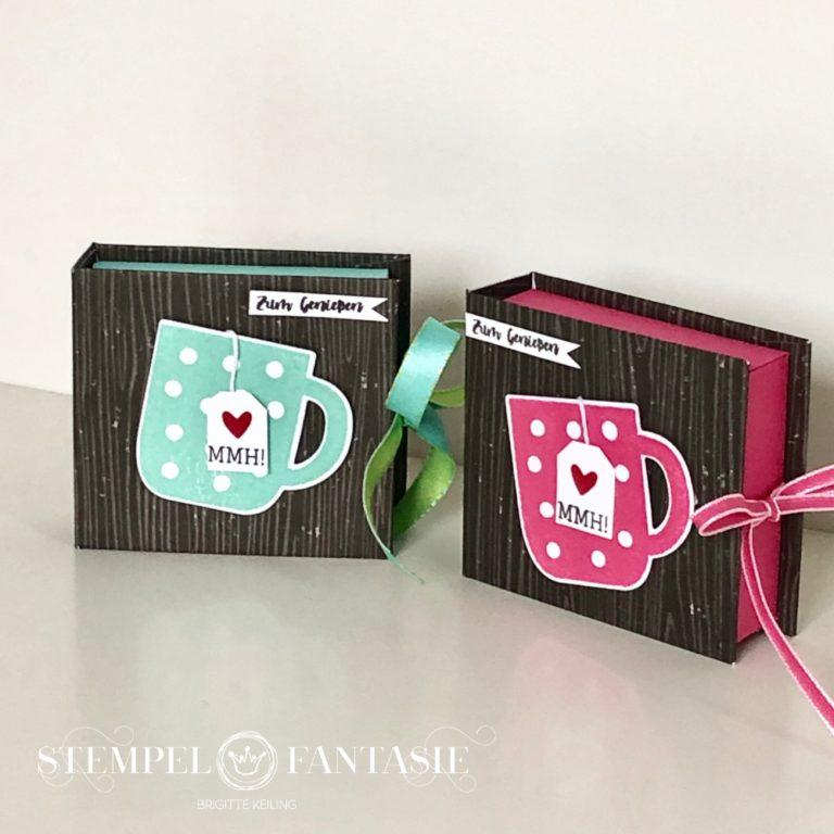 Buch-Box für Tee – mit Anleitung