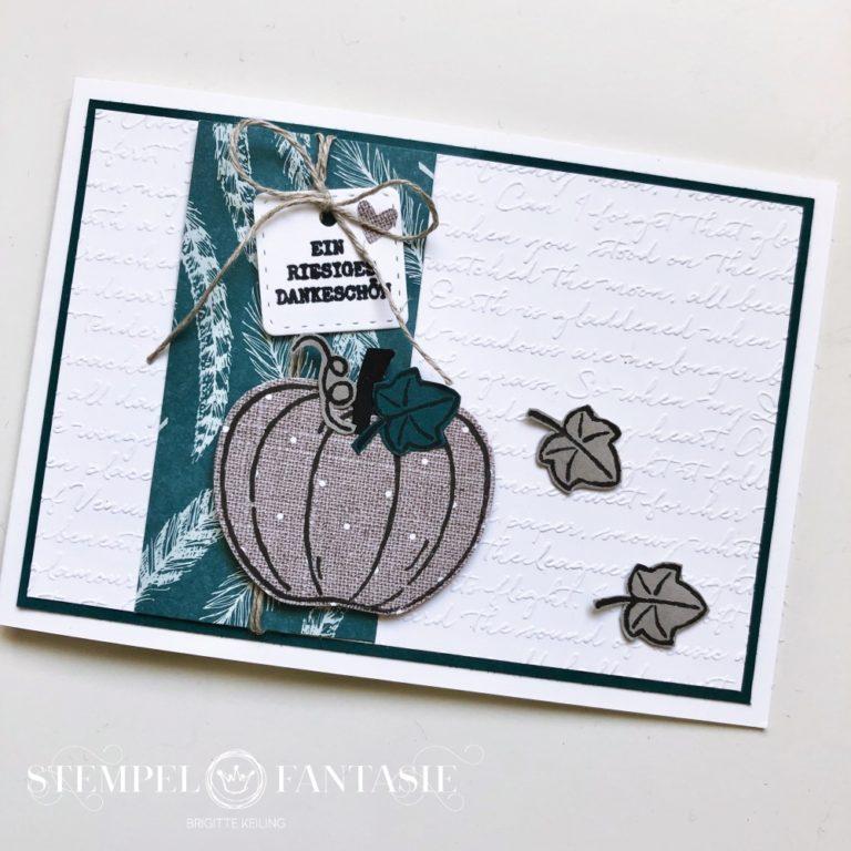 Kürbiskarte – mal in anderen Herbstfarben
