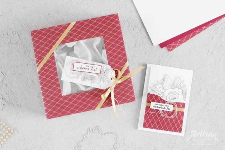Wunderbare Weihnachtszeit – Geschenkverpackung & Karte
