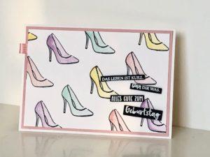 Schuhe gehen immer – Geburtstagskarte für Mädels
