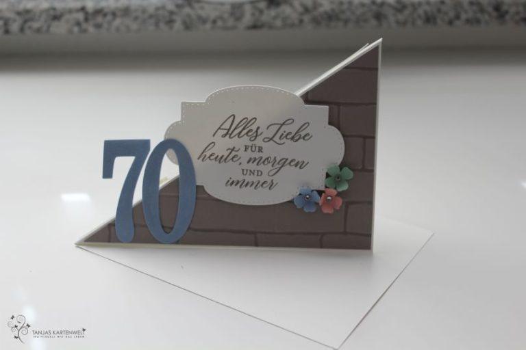 Besondere Karte zum 70. Geburtstag