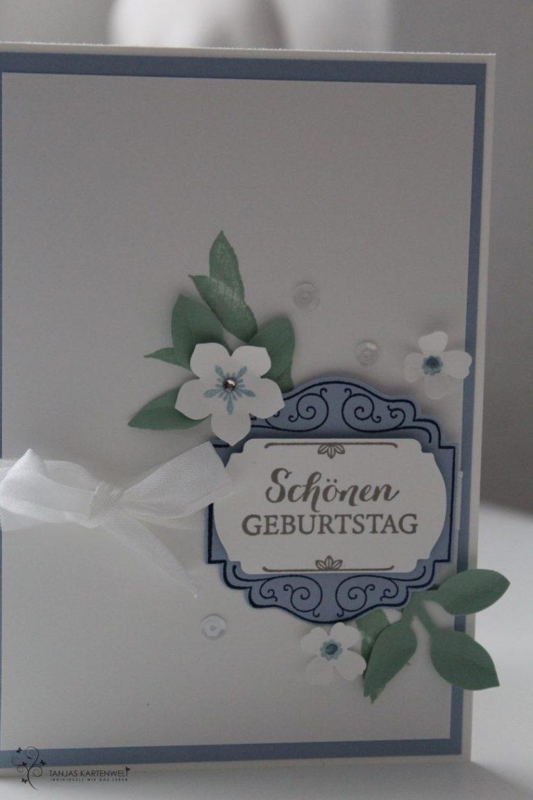 Blumen und Pailletten zum Geburtstag