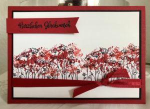 Geburtstagskarte Painted Poppies