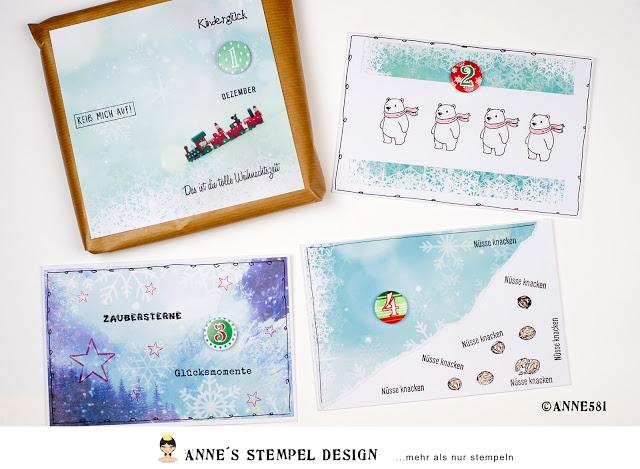 Adventskalender basteln mit Briefumschlägen