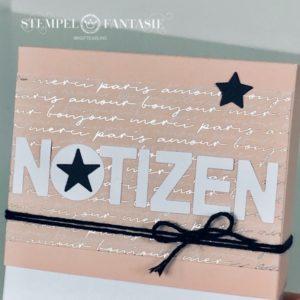 Notizzettel-Box in einem Hauch Pastell