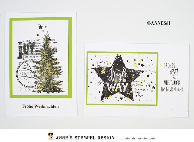 Der restliche Schwung selbstgemachter Weihnachtskarten
