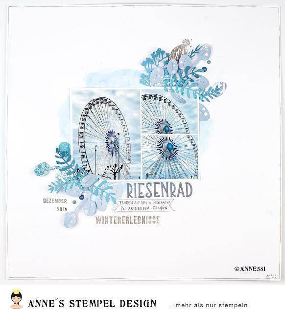 Scrapbookinglayout – Wintermarkt in Antwerpen – Riesenrad fahren