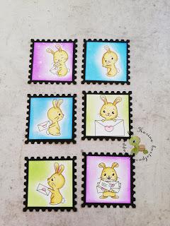 neue Deko Briefmarken mit Isabel Cristina stamps – Häschen