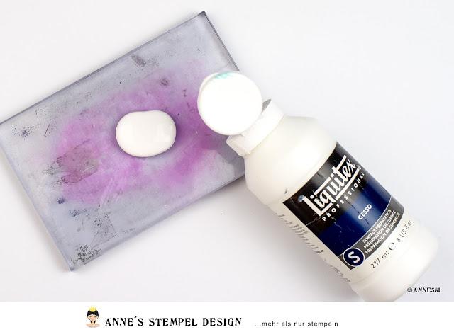 Hintergrund gestalten mit Acrylfarbe und Acrylblock