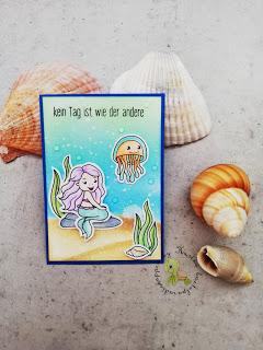 neue ATC mit einer anderen Meerjungfrau von Isabel Cristina Stamps
