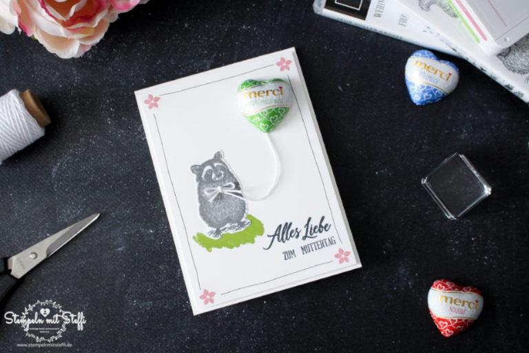 Muttertagskarte mit Merci Herz (Videoanleitung)