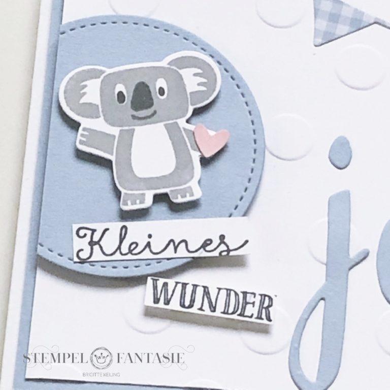 Baby-Karte mit Koala-Bär