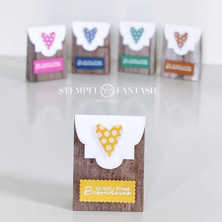 Kleine Tütchen in Holzoptik mit neuen InColors
