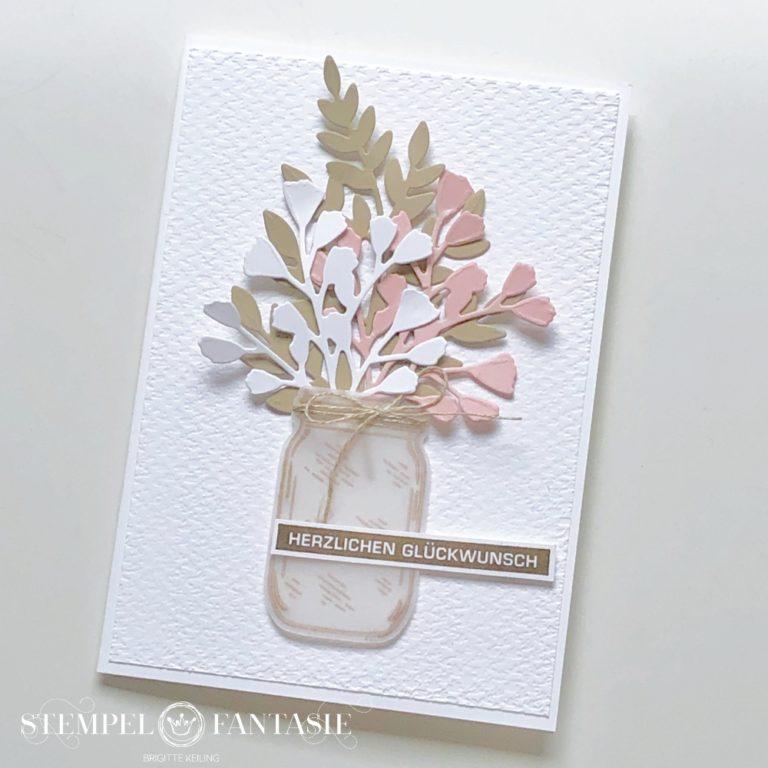 Schlichte Geburtstagskarte mit Zweigen
