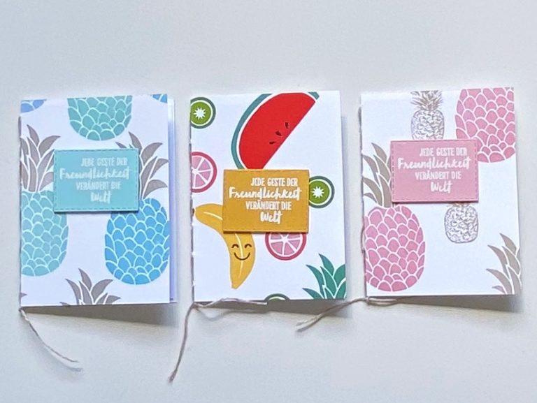 Cute Fruit – Handgenähte Notizbücher im Sommerlook als Gastgeschenk
