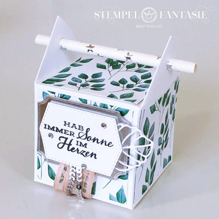 """Strohhalm-Box """"Ewiges Grün"""" mit Video-Tutorial"""