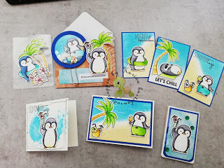 Mini loaded envelope Pinguine MFT stamps -Video