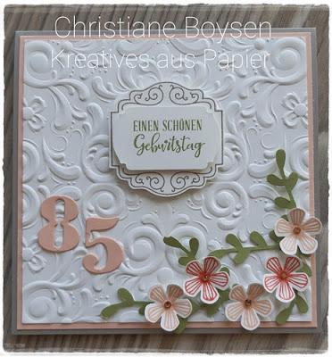 Karte zum 85. Geburtstag