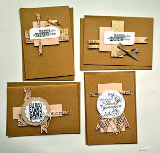 """Karten-Vierlinge aus nur einem 6×6"""" Bogen"""