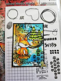 alle drei ATCs mit den Rubber Dance Stamps – Foxy