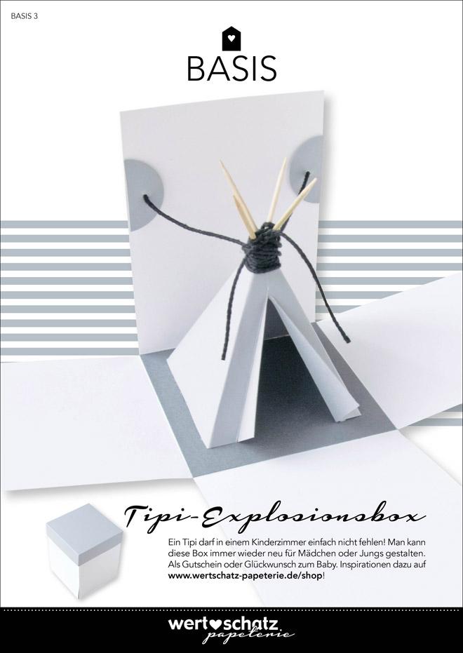Basis 3 mit Inspiration 3 – Tipi-Explosionsbox