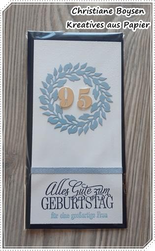 Karte zum 95. Geburtstag