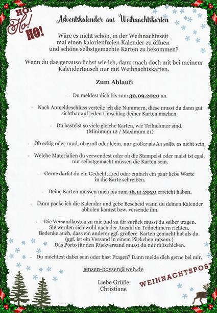 Adventskalender aus Weihnachtskarten