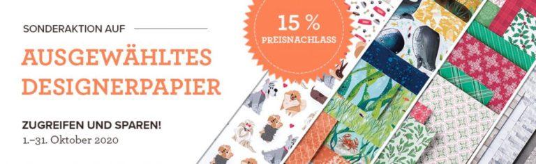 Sonderaktion Designerpapier – 15% auf ausgewählte Papiere im Oktober