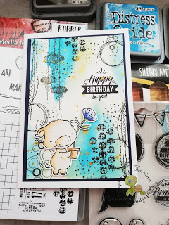 easy peasy Mixed Media Geburtstagskarte – Video