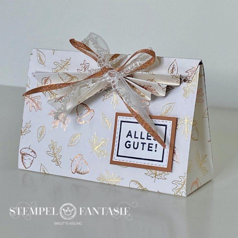 Raffinierte herbstliche Geschenkverpackung